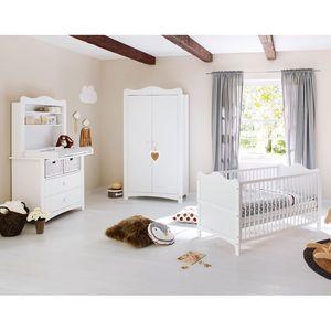 Babyzimmerset Florentina Kids II (3-teilig) - Weiß, Pinolino