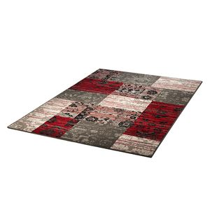 Teppich Prime Pile Billy Jean - Grau/Rot - 60 x 110 cm, Hanse Home Collection