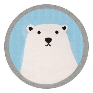 Kinderteppich Ninos Bear - Kunstfaser - Creme / Hellblau, Zala Living