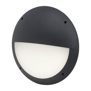 EEK A+, LED-Außenwandleuchte Ballina I - Kunststoff - 1-flammig - Anthrazit, Brilliant