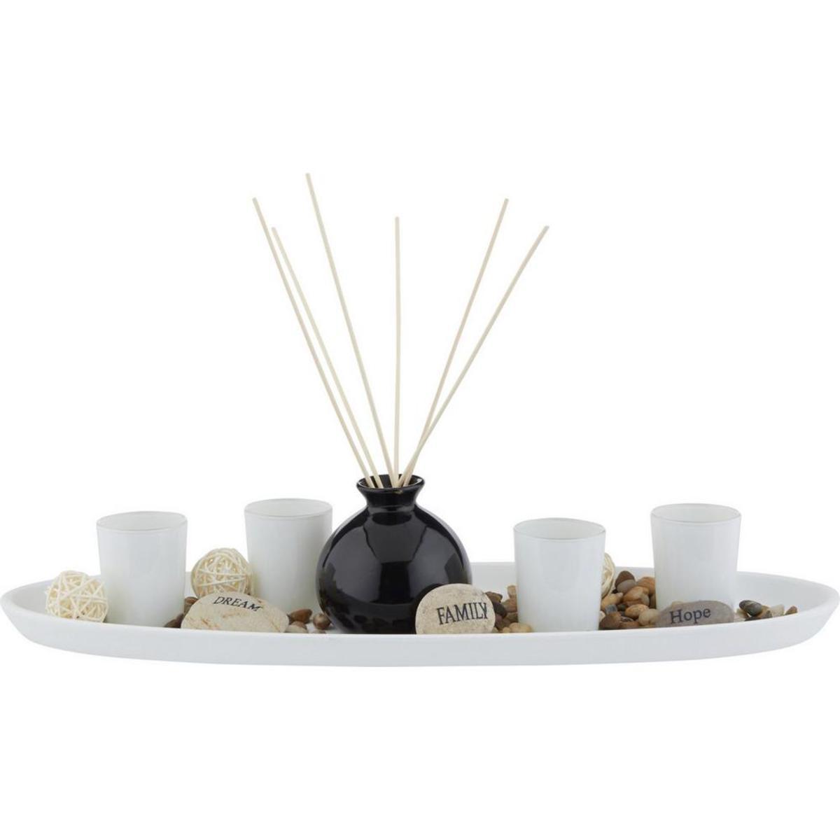 Bild 1 von Teelichtschale Evelin in Natur/Schwarz/Weiß