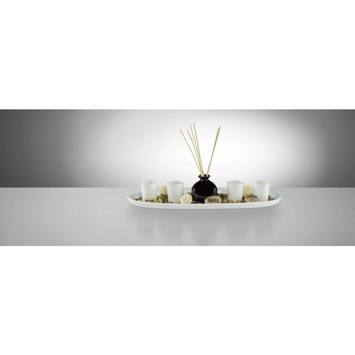 Bild 2 von Teelichtschale Evelin in Natur/Schwarz/Weiß