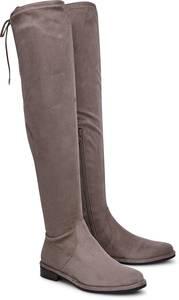 Overknee-Stiefel von BRUNO PREMI in taupe für Damen. Gr. 36,37,39,40