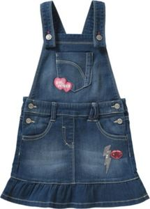 Kinder Jeanslatzkleid Reg Fit mit Patches Gr. 128 Mädchen Kinder
