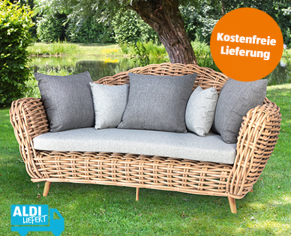 Outdoorsofa Breitgeflecht