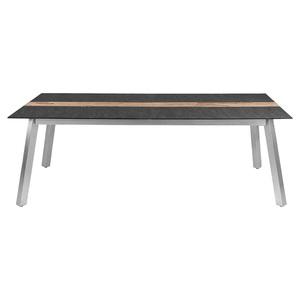 ZEBRA ausziehbarer Tisch /Gartentisch /Ausziehtisch 220/280 x 100 HKS Edelstahl/Teakholz