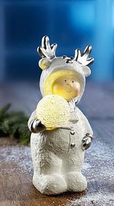 Winterkind mit LED Kugel