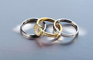 """Ring-Set """"Crystals"""" Gr. 18"""