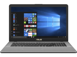 ASUS N705UD-GC005T, Gaming Notebook mit 17.3 Zoll Display, Core™ i7 Prozessor, 16 null RAM, 1 null HDD, 128 null SSD, GeForce GTX 1050, Grey Metal