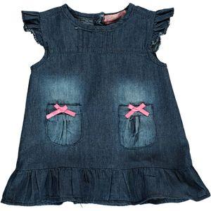 Baby Jeanskleid mit Flügelärmelchen