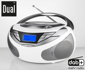 Dual Portable mit UKW/DAB(+) CD-Boombox DAB-P 150 - weiß
