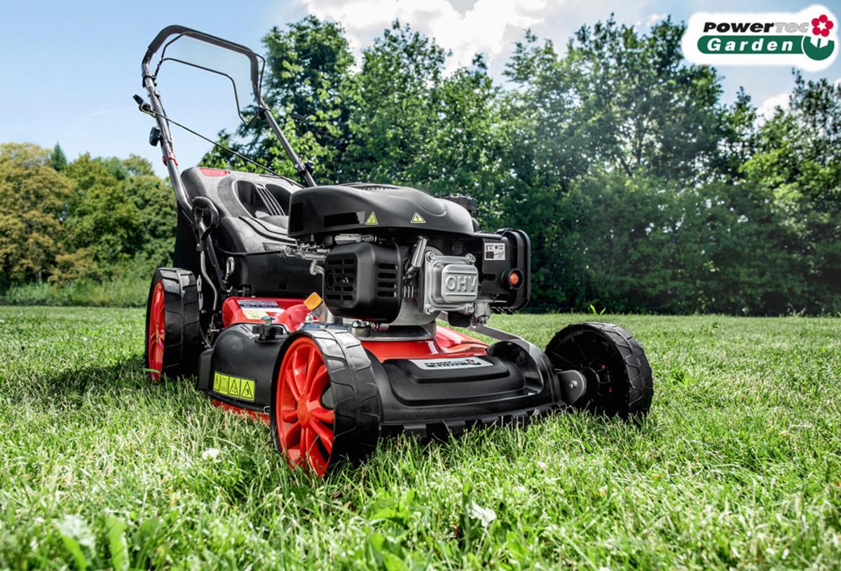Bild 2 von Powertec Garden Benzin-Rasenmäher Eco Wheeler 460/5in1 R