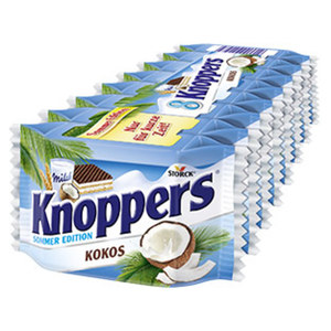 Knoppers Kokos 8er, jede 200-g-Packung