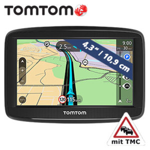 Navigationssystem Start 42 CE inkl. Free Lifetime Maps** · Fahrspurassistent · 8-GB interner Speicher · TMC-Modul im Ladekabel integriert · KFZ-Halterung  **weitere Infos unter http://www.tomtom.