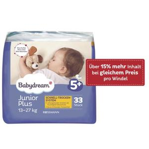 Babydream Windeln Junior Plus