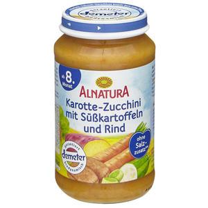 Alnatura Bio Karotte-Zucchini mit Süßkartoffeln und Rin 1.31 EUR/250 g (6 x 220.00g)
