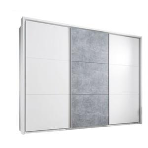 Passepartoutrahmen Bravo Weiß/Betonoptik Nachbildung ca. 280 x 215 x 17 cm