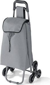 EASYmaxx Einkaufstrolley Treppensteiger faltbar grau