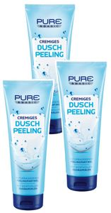 PURE & BASIC Duschpeeling, 3 x 250 ml