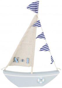 Deko-Schiff - aus Holz - 21 x 31 x 2,5 cm