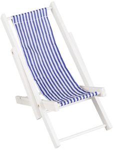 Deko-Liegestuhl - aus Holz - 19,5 x 11,5 x 21,5 cm
