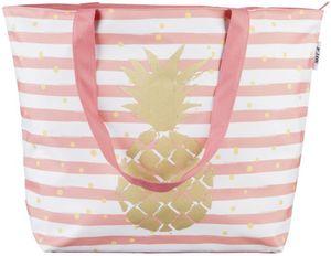 Strandtasche - Ananas - aus Textil - 59 x 40 x 20 cm