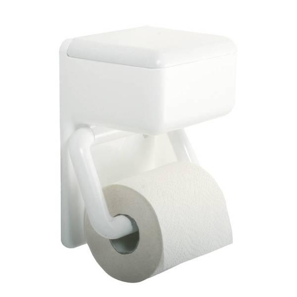 Duo WC Papierhalter mit Feuchttuchbox Wenko