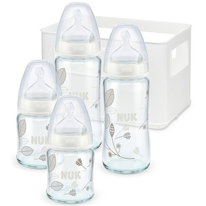 NUK - Starter Set First Choice Glasflaschen Silikon