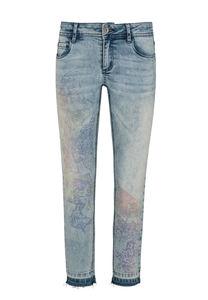 Million X Mädchen 3/4 pants Sunny Face, light blue denim, 140