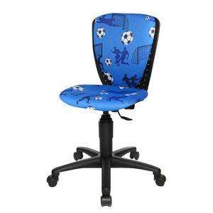 Kinderdrehstuhl S´cool - Textilbezug - Soccer 2010 blau, Topstar