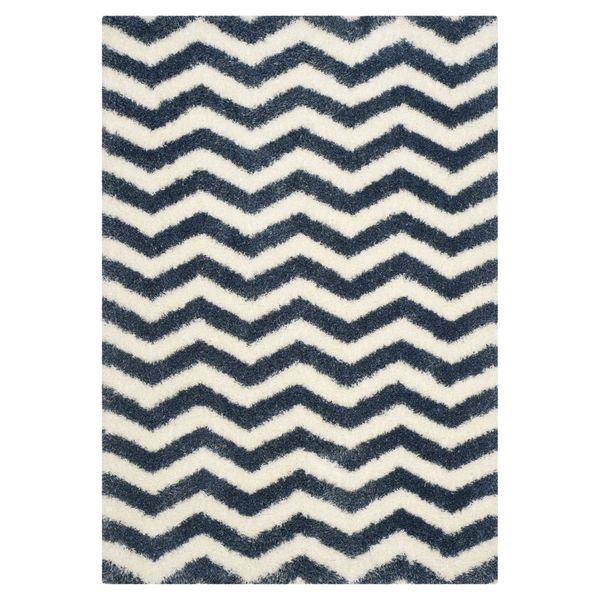 Teppich Frances - Blau / Weiß - 121 x 182 cm, Safavieh