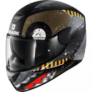 Shark helmets            D-SKWAL Saurus Schwarz/Grau Matt XS