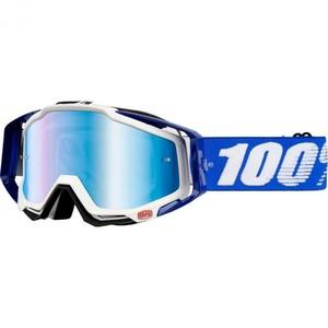 100%            Racecraft Crossbrille blau/weiß