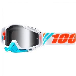 100%            Racecraft Crossbrille weiß/blau/orange