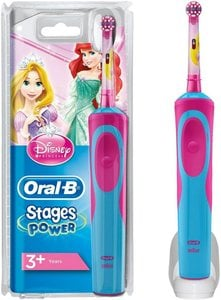 Oral-B Elektrische Zahnbürste Stages Power, für Kinder (Motiv Disney-Prinzessinnen)