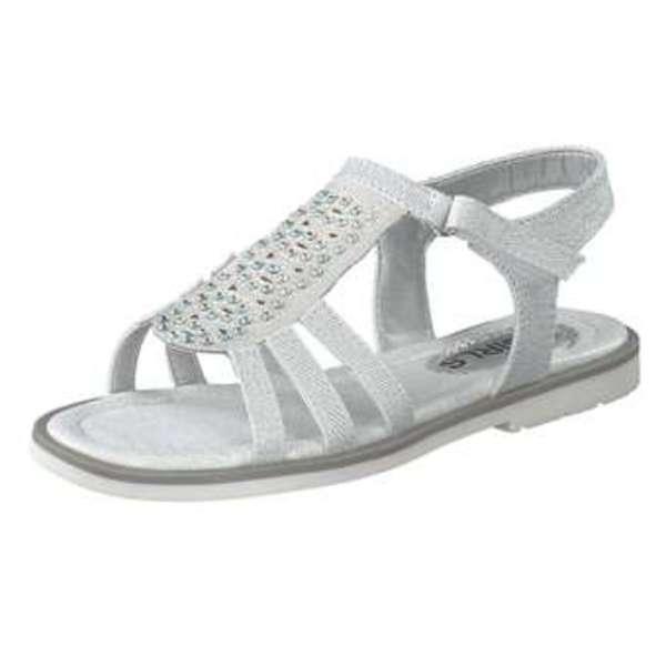 gut aussehend neueste art Bestbewertet authentisch Puccetti Sandale Mädchen silber