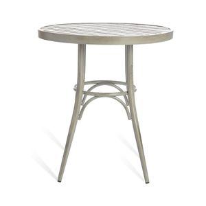 Tisch Aluminium, D:70cm x H:75cm, grau
