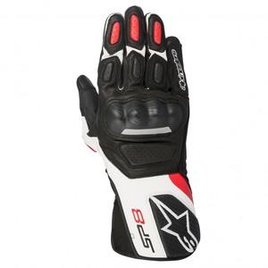 Alpinestars            SP-8 V2 Handschuh schwarz/weiß/rot