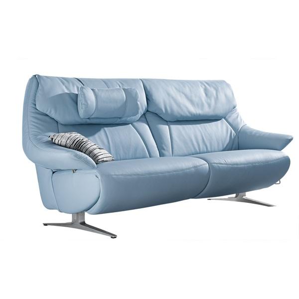 Mondo 25 Sitzer Sofa Malu Lederbezug Sky Ca 190 X 105 X 92 Cm Von