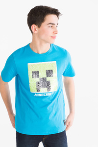 Here and There         Minecraft - Kurzarmshirt - Glanz Effekt
