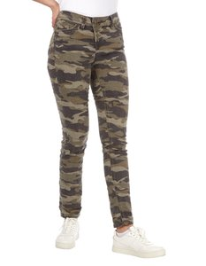 Damen Slim Fit Jeans mit Camouflage-Muster