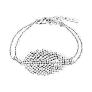 JETTE Silver Armband Leaf