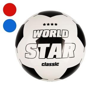 Kunststoff-Fußball World Star rot