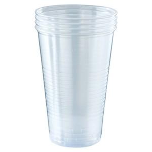 Einweg-Bierbecher aus Kunststoff transparent 0,5 l 5er-Pack