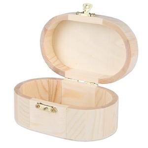Holzbox mit Klappdeckel oval