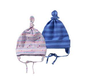 Baby-Mütze mit hübschem Streifenmuster