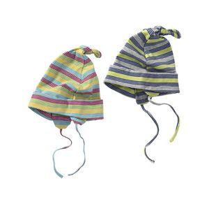 Baby-Mütze mit Ringelmuster
