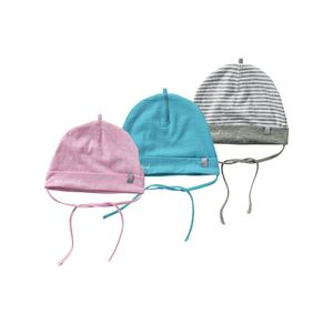 Baby-Mütze mit Bindebändern