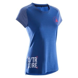 DOMYOS T-Shirt 500 Crosstraining Damen blau, Größe: M