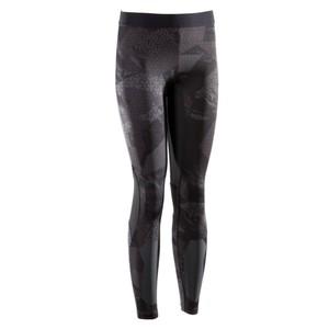 DOMYOS Leggings 500 Crosstraining Damen schwarz, Größe: 2XS / W26 L31